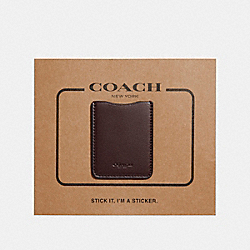 COACH F24051 - PHONE POCKET STICKER OXBLOOD