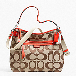 COACH F24062 - DAISY OUTLINE SIGNATURE CONVERTIBLE HOBO ONE-COLOR