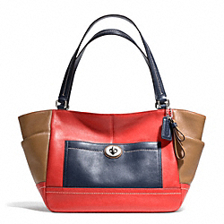 COACH F24065 - PARK COLORBLOCK CARRIE SILVER/VERMILLION MULTICOLOR