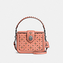 COACH F24075 - PAGE CROSSBODY WITH PRAIRIE RIVETS MELON/DARK GUNMETAL