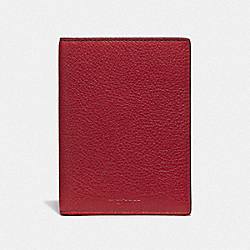 COACH F24080 - PASSPORT CASE TRUE RED/GOLD