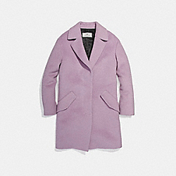 SOLID WOOL COAT - f24084 - LAVENDER