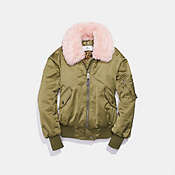 COACH F24086 Ma-1 Jacket With Shearling Collar DARK UTILITY