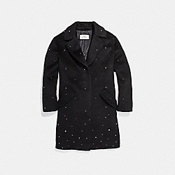 COACH F24087 Stardust Wool Coat BLACK