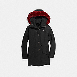 FURRY PARKA - F24088 - BLACK