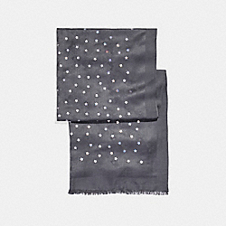 COACH F24190 Horse And Carriage Foil Star Oblong GRAPHITE