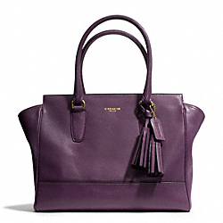 COACH F24201 Candace Medium Leather Carryall BRASS/BLACK VIOLET