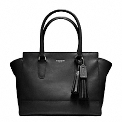COACH F24201 - LEATHER MEDIUM CANDACE CARRYALL SILVER/BLACK