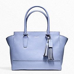 COACH F24201 Leather Medium Candace Carryall SILVER/CHAMBRAY
