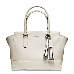 COACH F24201 - LEATHER MEDIUM CANDACE CARRYALL SILVER/PARCHMENT