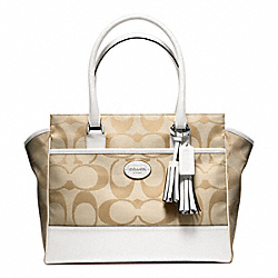 COACH F24203 Signature Medium Candace Carryall