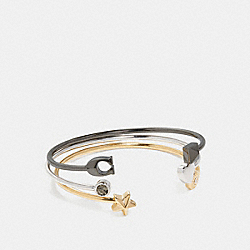 STARDUST SIGNATURE BANGLE SET - COACH f24235 - MULTI