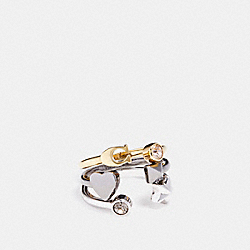 COACH F24238 - STARDUST RING SET MULTI