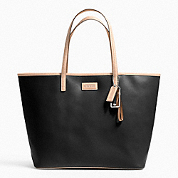 METRO SAFFIANO LEATHER TOTE - f24341 - SILVER/BLACK