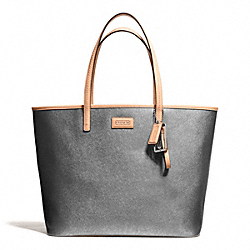 COACH F24341 - PARK METRO LEATHER TOTE SILVER/PEWTER