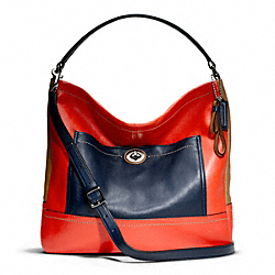 COACH F24369 Park Colorblock Hobo SILVER/VERMILLION MULTICOLOR
