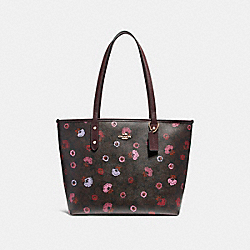 CITY ZIP TOTE WITH PRIMROSE FLORAL PRINT - f24372 - IMBMC