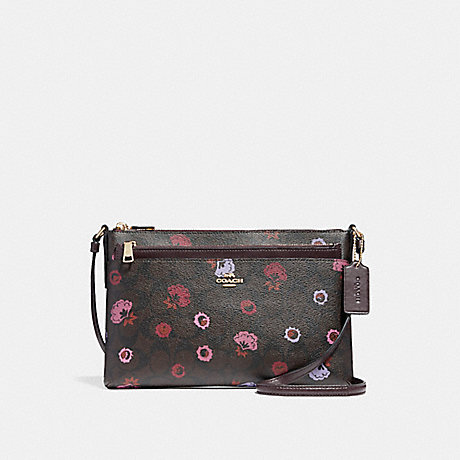 COACH f24373 EAST/WEST CROSSBODY WITH POP-UP POUCH WITH PRIMROSE FLORAL IMBMC