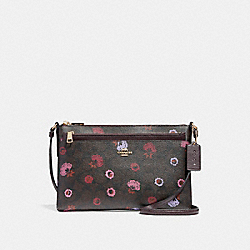 EAST/WEST CROSSBODY WITH POP-UP POUCH WITH PRIMROSE FLORAL - f24373 - IMBMC