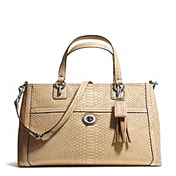 COACH F24384 - PARK PYTHON CARRYALL SILVER/NATURAL
