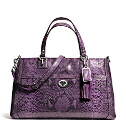 COACH F24384 - PARK PYTHON CARRYALL SILVER/PURPLE