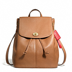 COACH F24385 Park Leather Backpack BRASS/BRITISH TAN