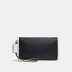 COACH F24470 - LARGE WRISTLET MIDNIGHT/CHALK/BLACK ANTIQUE NICKEL
