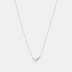 COACH F24479 Signature Chain Pendant Necklace SILVER