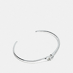 COACH F24485 Signature Chain Link Cuff SILVER