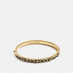 COACH F24492 Signature Studded Bangle BLACK/GOLD