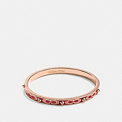 COACH F24492 Signature Studded Bangle WASHED RED/ROSEGOLD
