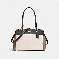 COACH F24549 Brooke Carryall In Colorblock LIGHT GOLD/CHALK
