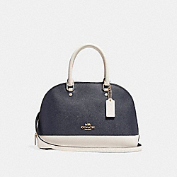 MINI SIERRA SATCHEL IN COLORBLOCK - f24589 - MIDNIGHT/CHALK/Light Gold