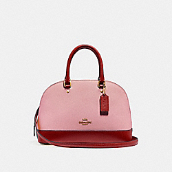 MINI SIERRA SATCHEL IN COLORBLOCK - f24589 - BLUSH/TERRACOTTA/LIGHT GOLD