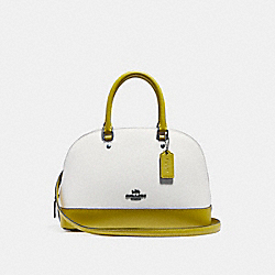 MINI SIERRA SATCHEL IN COLORBLOCK - f24589 - CHALK/CHARTREUSE/BLACK ANTIQUE NICKEL