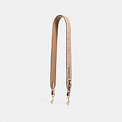 STRAP WITH FLORAL TOOLING - f24591 - nude pink/imitation gold