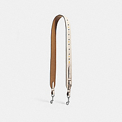 STRAP WITH FLORAL TOOLING - f24591 - SILVER/CHALK