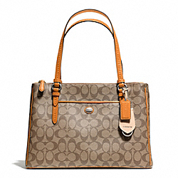 COACH F24603 - PEYTON SIGNATURE JORDAN DOUBLE ZIP CARRYALL SVB10