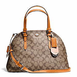 COACH F24606 Peyton Signature Cora Domed Satchel SVB10