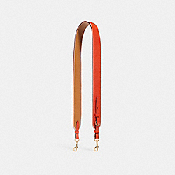 STRAP WITH EDGEPAINT - f24616 - ORANGE RED/LIGHT SADDLE/LIGHT GOLD
