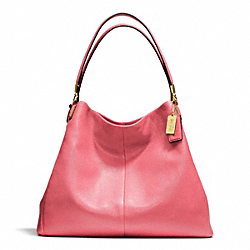 COACH F24621 Madison Phoebe Shoulder Bag In Leather BRASS/PEONY