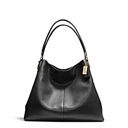 COACH MADISON PHOEBE SHOULDER BAG IN LEATHER - LIGHT GOLD/BLACK - F24621