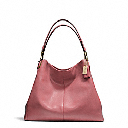 COACH F24621 Madison Leather Phoebe Shoulder Bag LIGHT GOLD/ROUGE