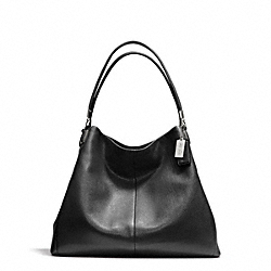 COACH F24621 - MADISON LEATHER PHOEBE SHOULDER BAG SILVER/BLACK