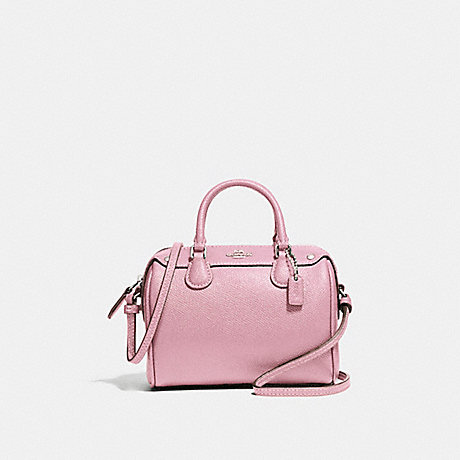 COACH f24627 MICRO MINI BENNETT SATCHEL SILVER/BLUSH 2