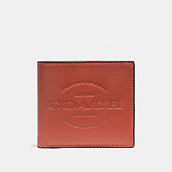 COACH F24647 Double Billfold Wallet TERRACOTTA