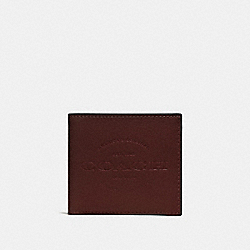DOUBLE BILLFOLD WALLET - F24647 - DARK BROWN/BLACK ANTIQUE NICKEL