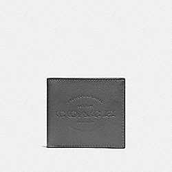 COACH F24647 Double Billfold Wallet HEATHER GREY/BLACK ANTIQUE NICKEL