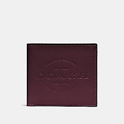 DOUBLE BILLFOLD WALLET - F24647 - OXBLOOD/BLACK ANTIQUE NICKEL