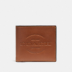 COACH F24647 Double Billfold Wallet SADDLE